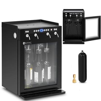 Chłodziarka z dyspenserem dozownikiem do wina 7-18C 4 butelki - czarny