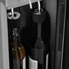 Dozownik dyspenser do wina z chłodziarką 7-18C 2 butelki - srebrny