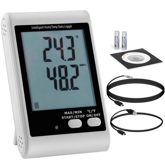 Rejestrator temperatury i wilgotności zewnętrzny USB zakres -40 do 125C