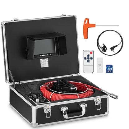 Endoskop kamera inspekcyjna LCD TFT 7'' śr. rur 40-80 mm dł. 50m