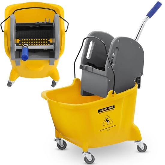 Wózek do sprzątania mycia podłóg z prasą i uchwytem do mopa jedno wiadro 24L