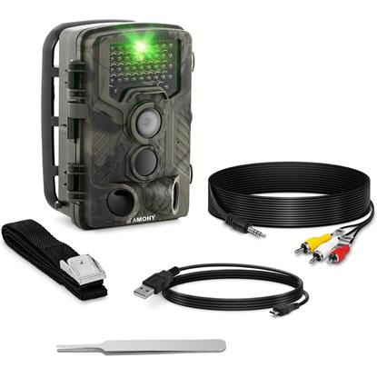 Fotopułapka kamera leśna z czujnikiem ruchu 8MP F-HD 20m IR LED GSM-3G