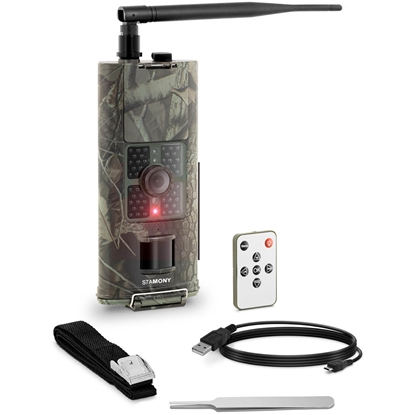 Fotopułapka kamera leśna z czujnikiem ruchu 8MP F-HD 20m IR LED GSM-3G ANT