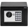 Sejf domowy elektroniczny skrytka na szyfr i klucz 23x17x17 cm