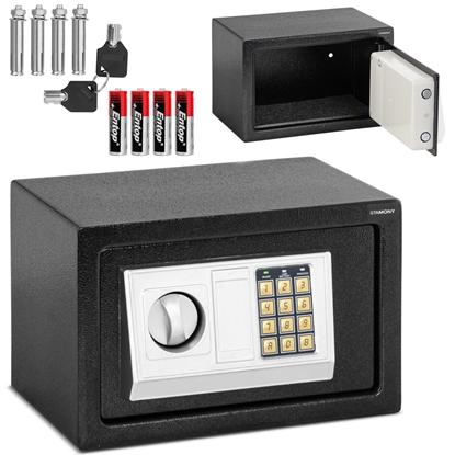 Sejf domowy elektroniczny skrytka na szyfr i klucz 31x20x20 cm