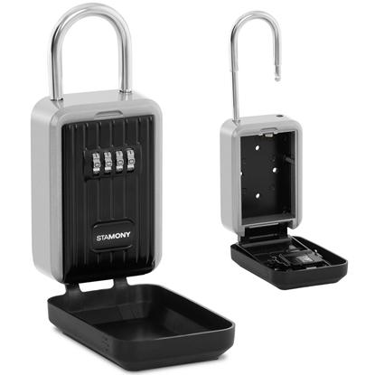 Sejf skrytka na klucze z zamkiem szyfrowym i kłódką + OSŁONA ST-KS-300N