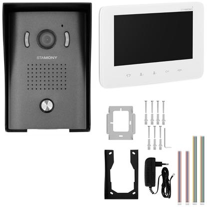 Wideodomofon domofon LCD 7'' do domu jednorodzinnego 50 m