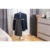 Stojak wieszak na ubrania garnitur 2 ramiona wolnostojący podłogowy STALOWY