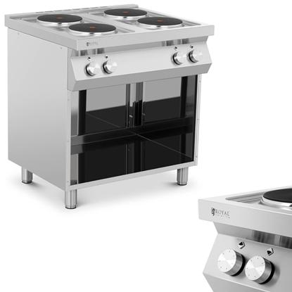 Kuchnia elektryczna 4-płytowa wolnostojąca z otwartą podstawą 4 x 2600 W 400 V ITALY
