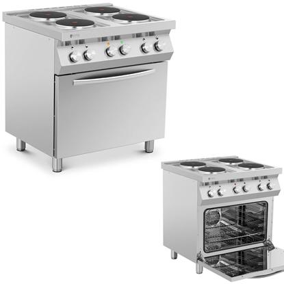 Kuchnia elektryczna 4-płytowa z piekarnikiem 4 x 2600 W 3 kW 400 V ITALY