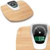 Waga łazienkowa analogowo-elektroniczna BAMBUS kg. lb do 180 kg