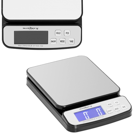 Waga pocztowa do paczek i listów LCD do 25 kg / 1 g