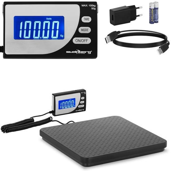 Waga przemysłowa paczkowa do 100 kg / 0.1 g LCD USB