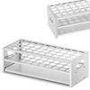 Stojak statyw laboratoryjny na probówki aluminiowy śr. 22.5 mm 40 miejsc