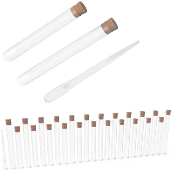 Probówki laboratoryjne szklane z pipetą zestaw 24 elementy