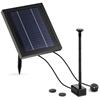 Fontanna do oczka wodnego stawu solarna z baterią LED 250 l/h 0.75 m 3 W
