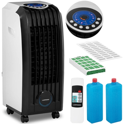 Klimatyzer klimator ewaporacyjny domowy biurowy przenośny z pilotem 3w1 7 l 829.2 m3/godz. 60 W