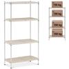 Regał metalowy warsztatowy 4 półki druciane z nakładkami do 600 kg 90x45x180 cm