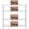 Regał metalowy magazynowy 4 półki ażurowe do 1 t 1000 kg 180x59x180 cm