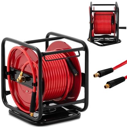 Wąż przewód pneumatyczny ciśnieniowy na zwijaku bębnie obrotowym 360 20 bar 30 m + 1.2 m
