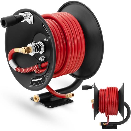 Wąż przewód pneumatyczny ciśnieniowy gumowy na zwijaku bębnie 20 bar 15 m