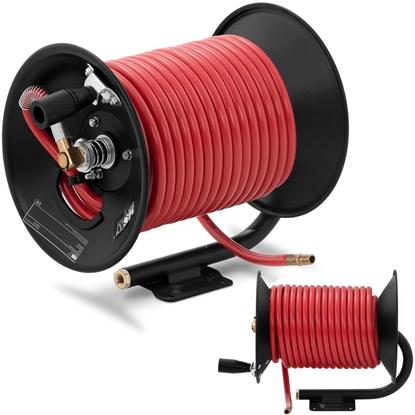 Wąż przewód pneumatyczny ciśnieniowy gumowy na zwijaku bębnie 20 bar 30 m