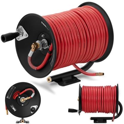 Wąż przewód pneumatyczny ciśnieniowy gumowy na zwijaku bębnie 20 bar 45 m