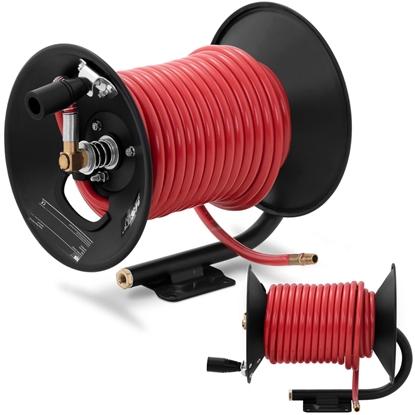 Wąż przewód pneumatyczny ciśnieniowy gumowy na zwijaku bębnie 20 bar 20 m