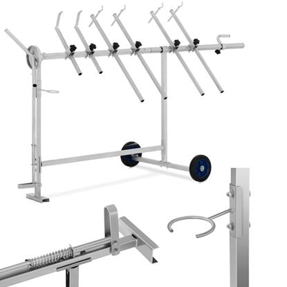 Stojak wózek lakierniczy obrotowy 360 do 90 kg 6 ramion STANDARD