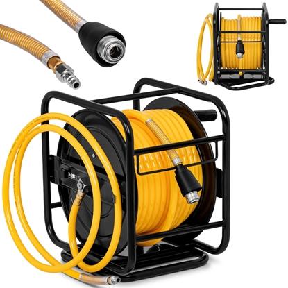 Wąż przewód pneumatyczny ciśnieniowy na zwijaku bębnie obrotowym 360 8 bar 30 m + 2 m