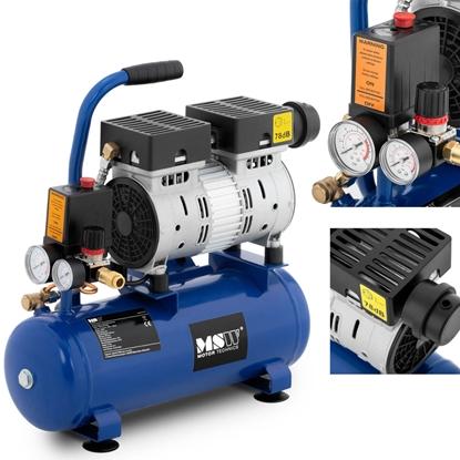 Kompresor sprężarka powietrza bezolejowa z ciśnieniomierzem 6-8 bar 8 l/2.1 GAL 550 W