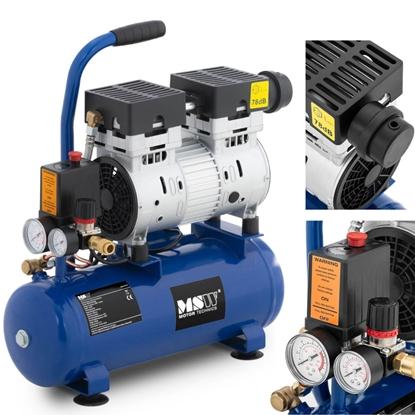Kompresor sprężarka powietrza bezolejowa z ciśnieniomierzem 6-8 bar 8 l/2.1 GAL 750 W