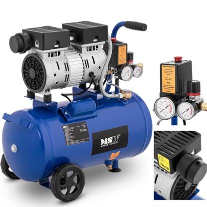 Kompresor sprężarka powietrza bezolejowa mobilna z ciśnieniomierzem 6-8 bar 24 l/6.3 GAL 550 W