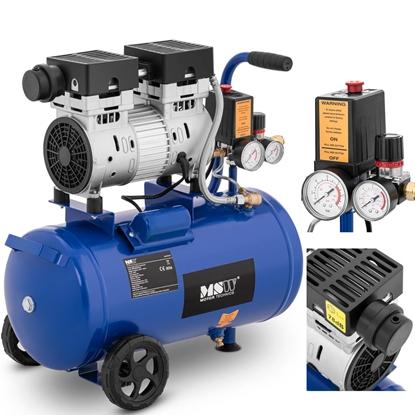 Kompresor sprężarka powietrza bezolejowa mobilna z ciśnieniomierzem 6-8 bar 24 l/6.3 GAL 750 W
