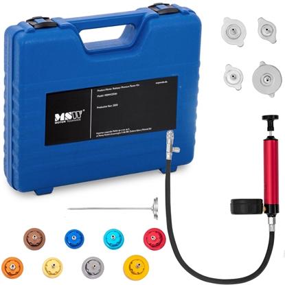 Tester miernik ciśnienia szczelności układu chłodzenia 2.5 bar zestaw 14 elementów