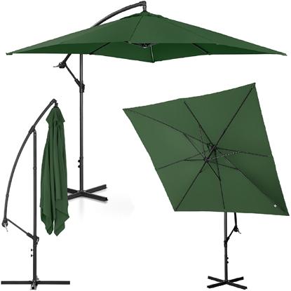 Parasol ogrodowy na wysięgniku kwadratowy 250 x 250 cm zielony