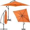 Parasol ogrodowy na wysięgniku kwadratowy 250 x 250 cm pomarańczowy
