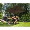 Parasol ogrodowy na wysięgniku kwadratowy 250 x 250 cm brązowy