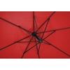 Parasol ogrodowy na wysięgniku okrągły śr. 300 cm czerwony