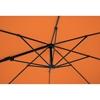 Parasol ogrodowy boczny na wysięgniku kwadratowy 250 x 250 cm pomarańczowy