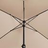 Parasol ogrodowy prostokątny z korbką 200 x 300 cm kremowy