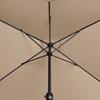 Parasol ogrodowy prostokątny z korbką 200 x 300 cm beżowy