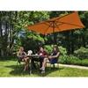 Parasol ogrodowy prostokątny z korbką 200 x 300 cm pomarańczowy