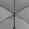 Parasol ogrodowy prostokątny z korbką 200 x 300 cm ciemnoszary