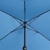 Parasol ogrodowy prostokątny z korbką 200 x 300 cm niebieski