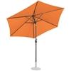 Parasol ogrodowy okrągły uchylny z korbką śr. 300 cm pomarańczowy