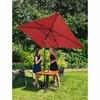 Parasol ogrodowy prostokątny uchylny z korbką 200 x 300 cm czerwony