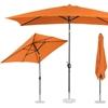 Parasol ogrodowy prostokątny uchylny z korbką 200 x 300 cm pomarańczowy
