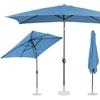 Parasol ogrodowy prostokątny uchylny z korbką 200 x 300 cm niebieski