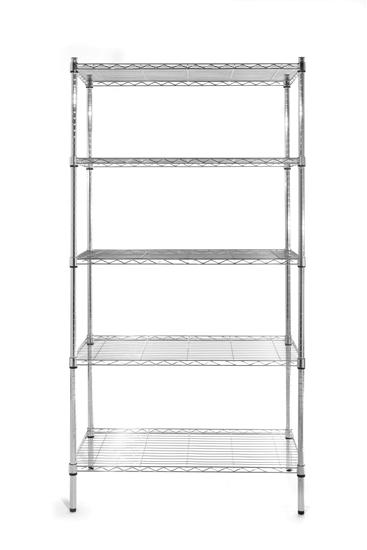 Regał magazynowy składany regulowane półki z drutu - 5 półkowy - Hendi 812204
